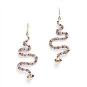 Kate spade snake earrings